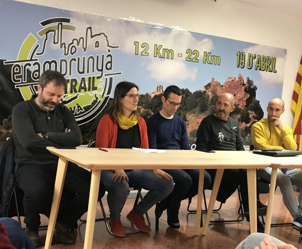 Imatge del acte de presentació de la Eramprunya Trail a la Seu de la UME